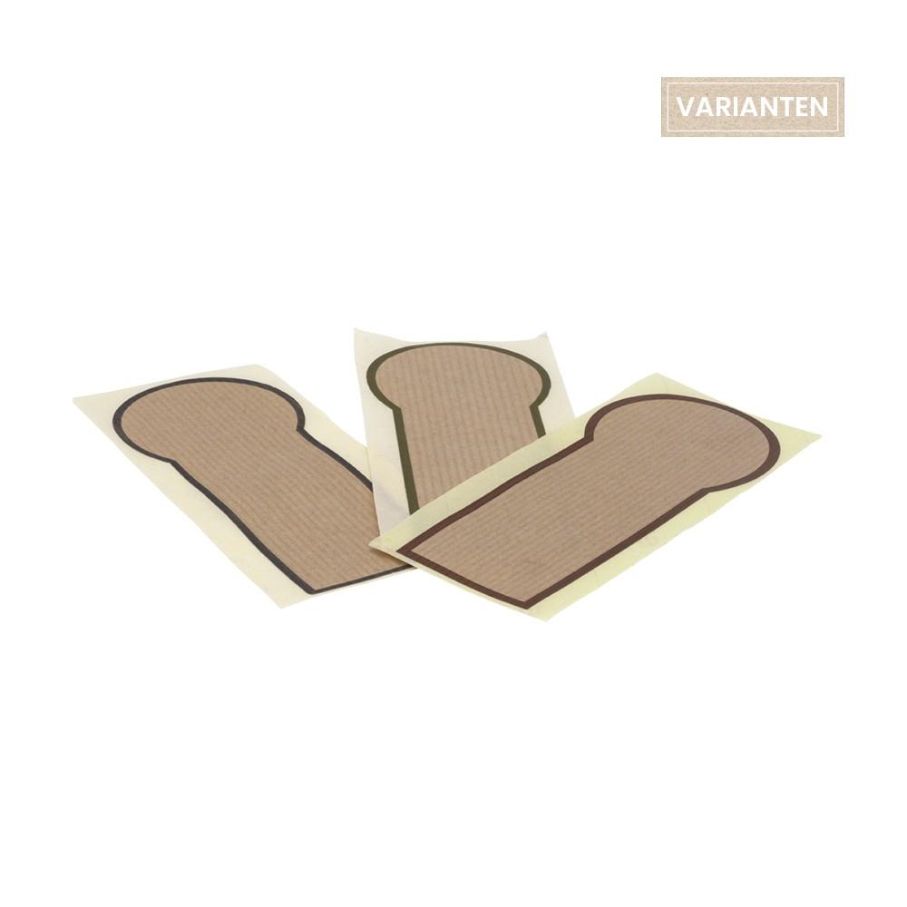 Aufkleber - Verschlussetikett für individuelles Branding, 105-07-0078, 105-07-0079, 105-07-0080