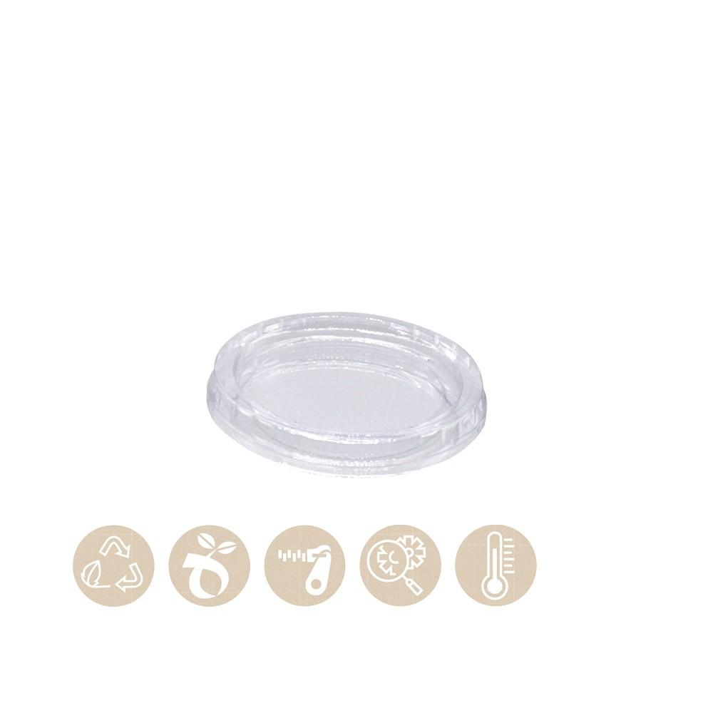 PLA - Deckel für BIO Dressingbecher - Saucenbecher 115-01-0004