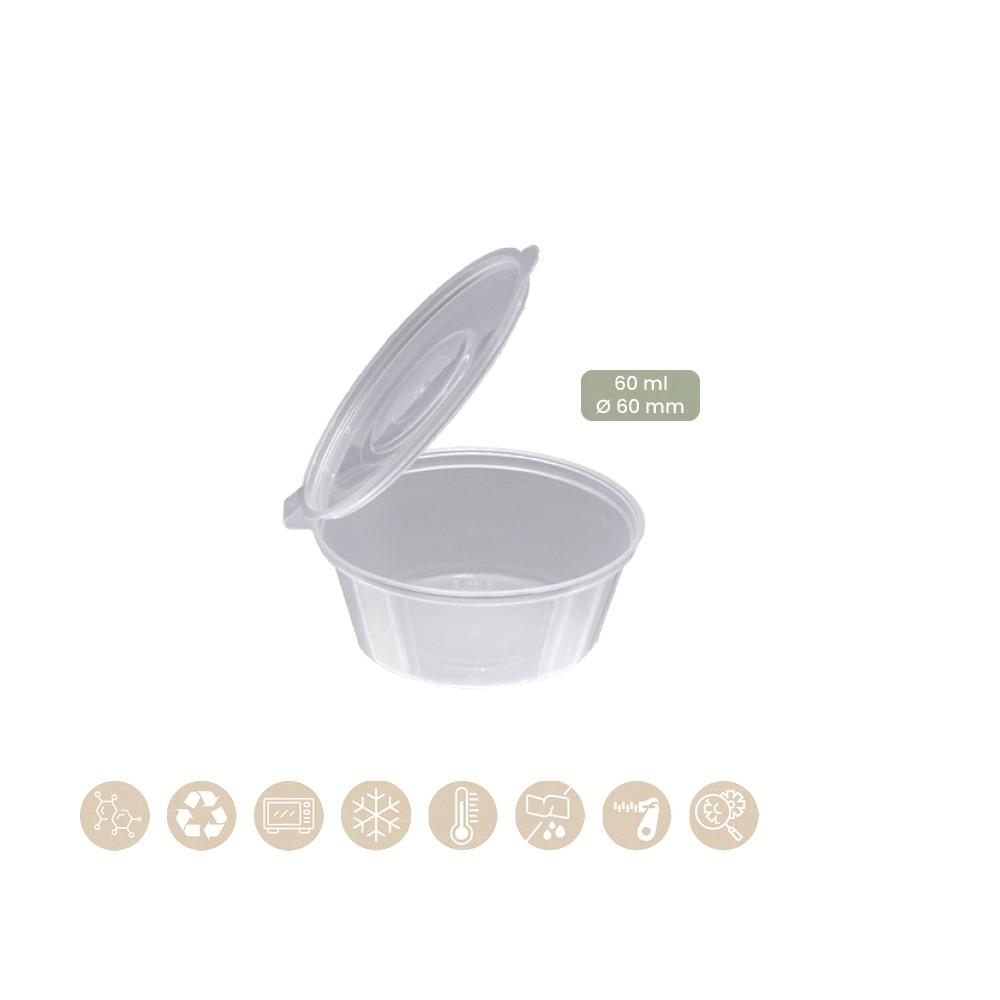 BIO Dressingbecher mit anhängendem Deckel 60 ml, 200-02-0055