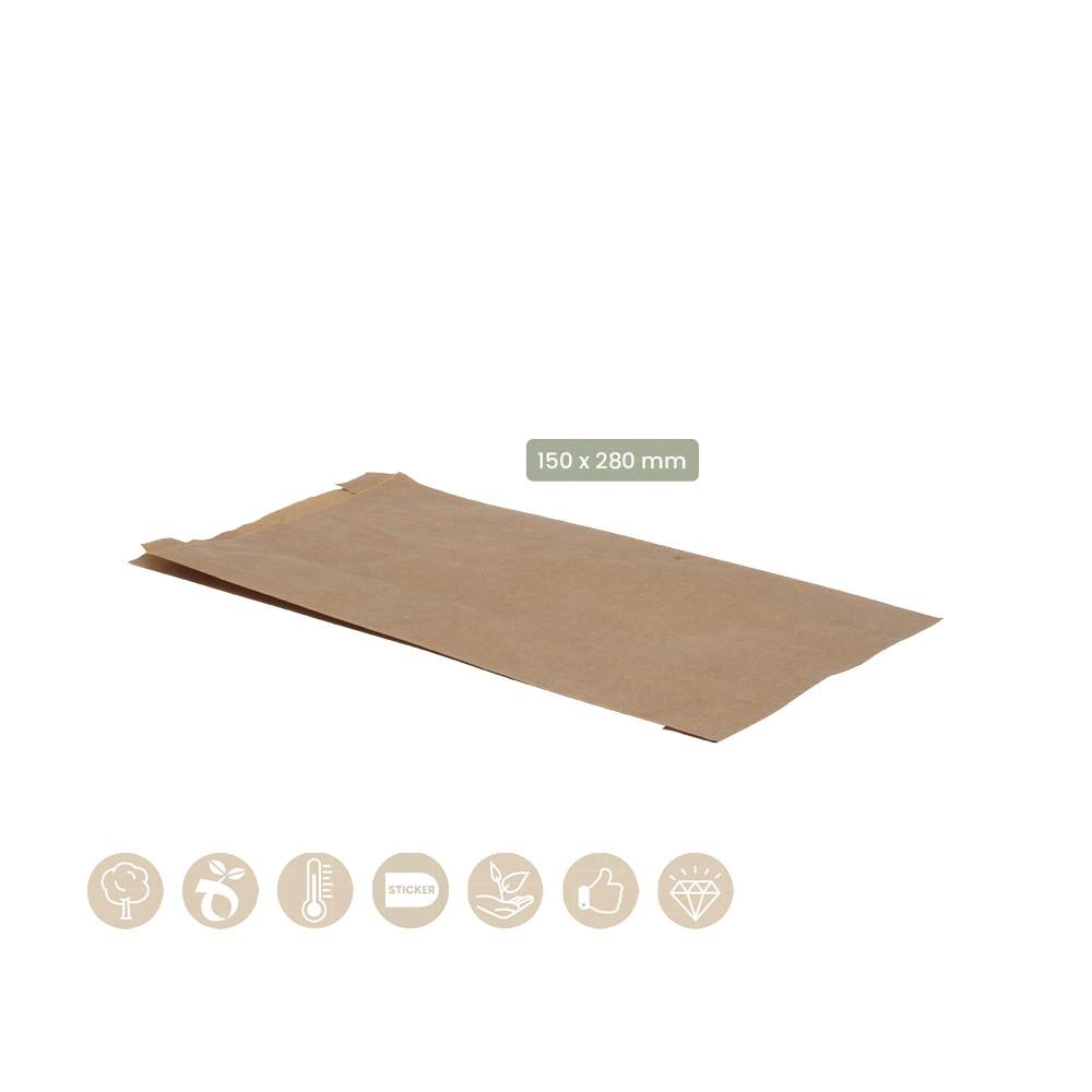 BIO Faltenbeutel ohne Fenster aus Papier 108-07-0101