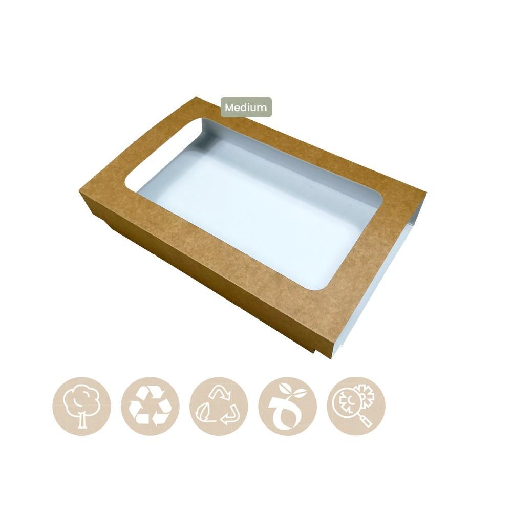 105-05-0004 Hülle für Catering Plattenboden Medium mit Sichtfenster (Papier)