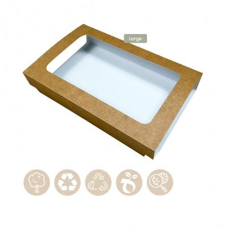 105-05-0002 Hülle für Catering Plattenboden Large mit Sichtfenster (Papier)