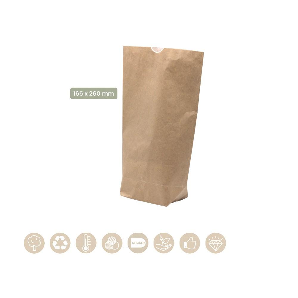 Blockbodenbeutel gefüttert mit Pergament-Ersatz ohne Fenster 200-07-0036