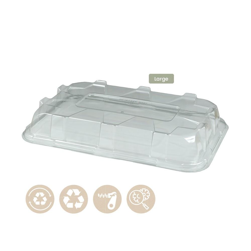 104-05-0049 Deckel für rechteckige Platte für Catering 46x30cm (RPET)