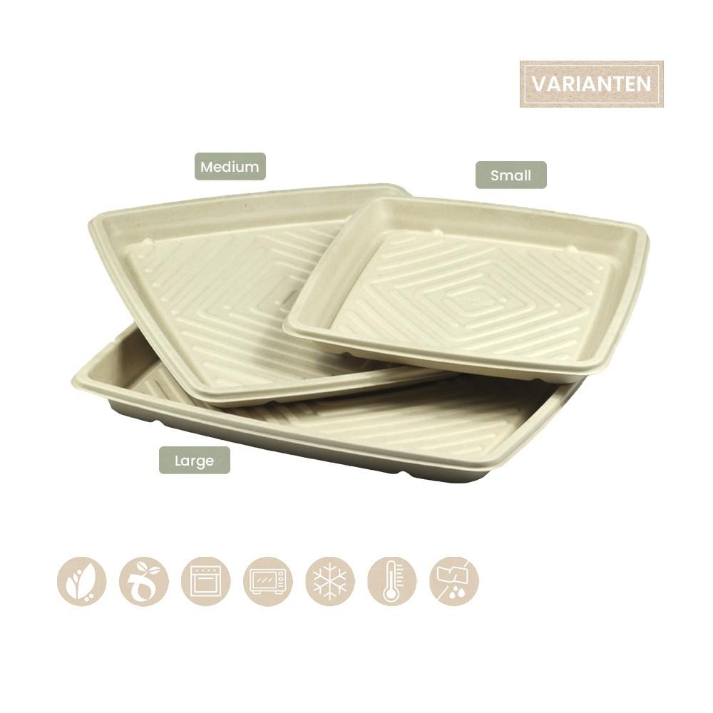BIO Catering-Platte quadratisch für Kaltes und Warmes BePULP 104-05-0187, 104-05-0155, 104-05-1056