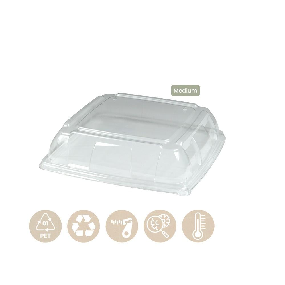 104-05-0157 Deckel für Platte für Catering 31x31cm (PET)