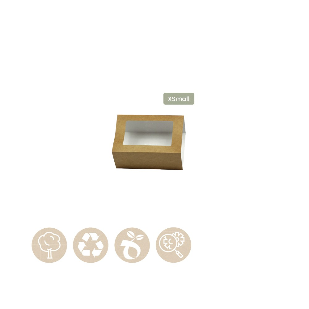 105-05-0012 Hülle für Catering - Tray Platter XSmall mit Sichtfenster (Papier / Zellulose)