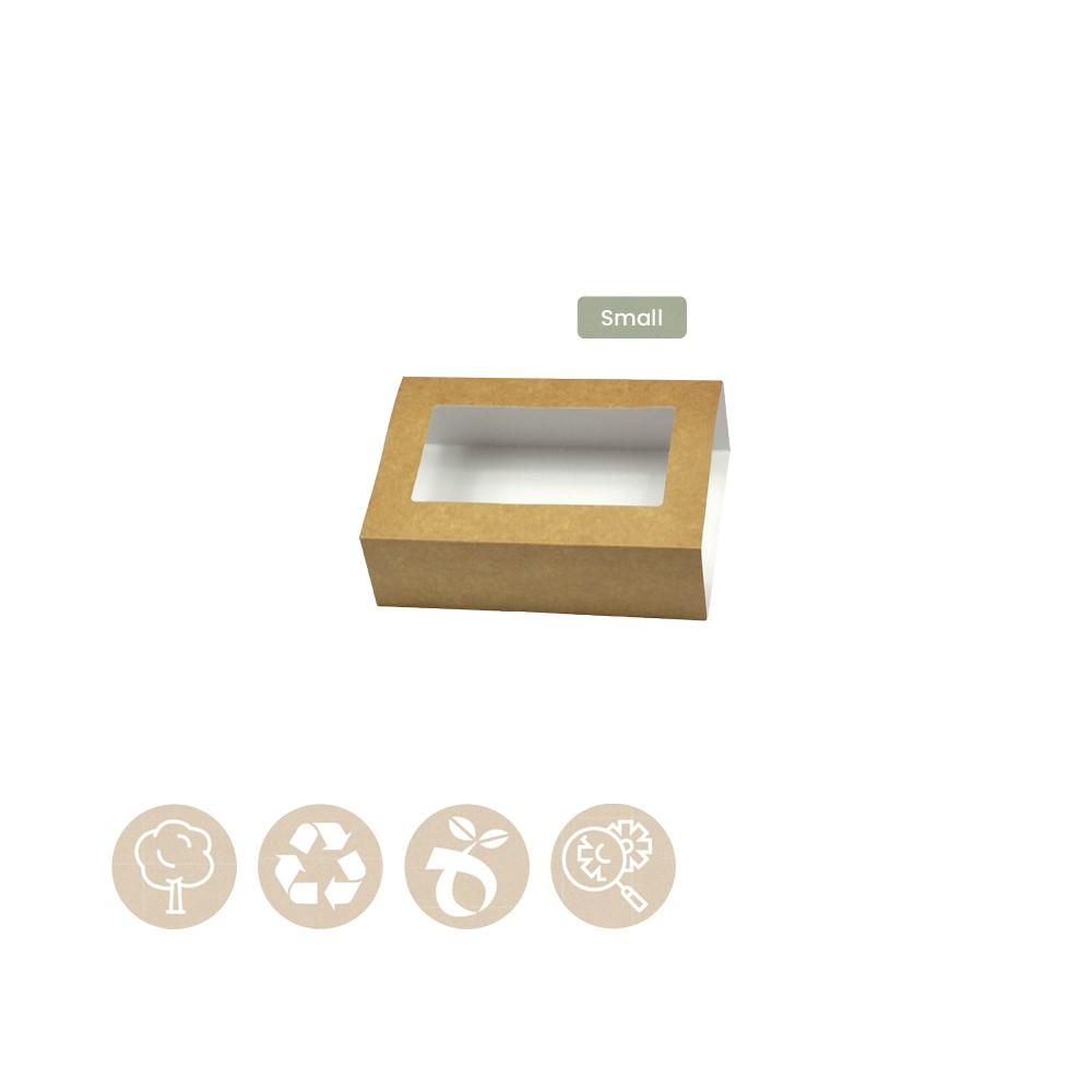105-05-0011 Hülle für Catering - Tray Platter Small mit Sichtfenster (Papier / Zellulose)
