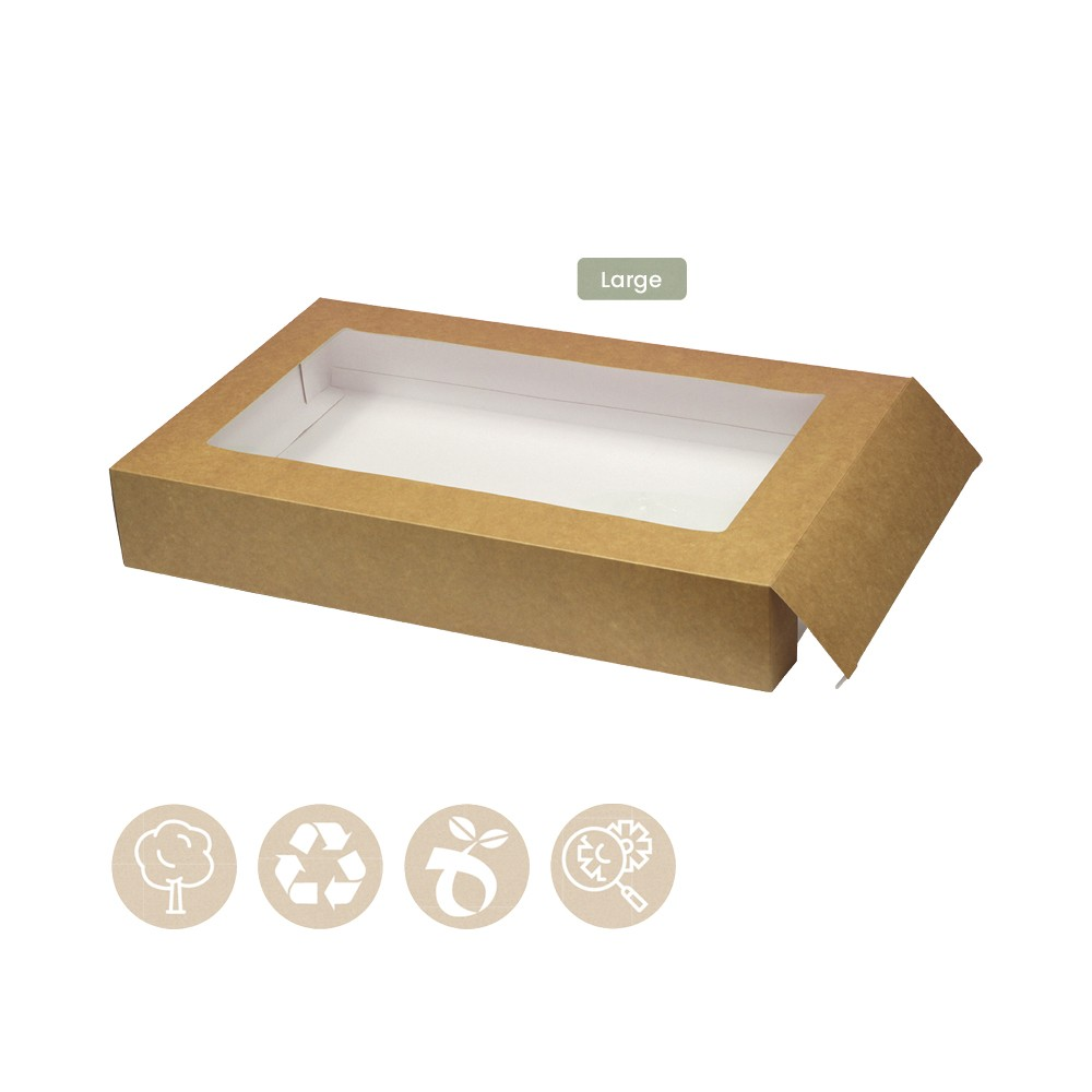 105-05-0010 Hülle für Catering - Tray Platter Large mit Sichtfenster (Papier / Zellulose)