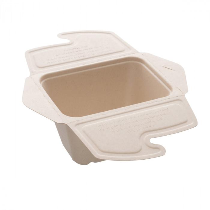 104-01-0164 Foodbox mit Klappdeckel 1teilig für Warmes & Kaltes 750ml 17x13cm (PULP)