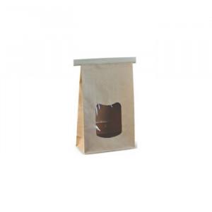 106-07-0036 Blockbodenbeutel mit Fenster 24x15x7cm (Papier)