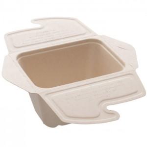 104-01-0165 Foodbox mit Klappdeckel 1teilig für Warmes & Kaltes 1000ml 21x15cm (PULP)