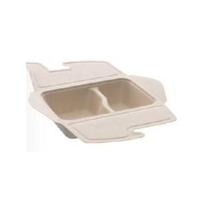 104-01-0218 Foodbox mit Klappdeckel 2teilig für Warmes & Kaltes 800ml 21x15cm (PULP)