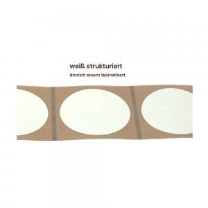 Aufkleber rund 60 mm Ø weiß strukturiert matt