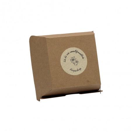Take Away Verpackung mit Aufkleber rund 60 mm Ø