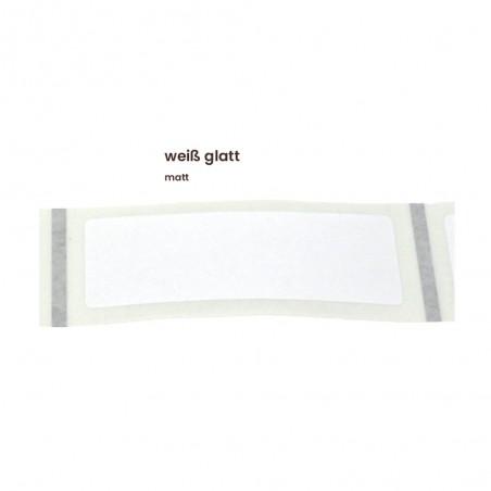 Aufkleber rechteckig 70x30 mm mit abgerundeten Ecken weiß glatt matt