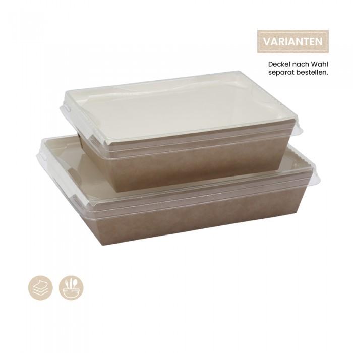 Bio Schale Fuzione für kalte Speisen (Papier) 105-02-0102, 105-02-0104