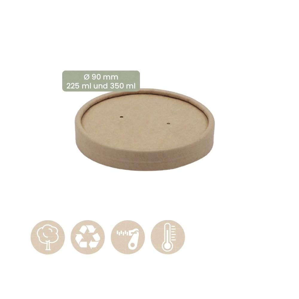 Papier-Becher für Speisenbecher und Suppenbecher Ø 90mm Kaltes & Warmes 105-02-0065