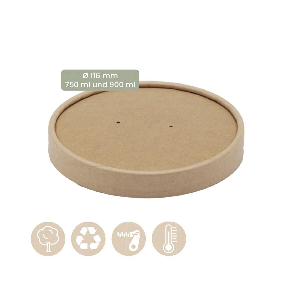 Papier-Becher für Speisenbecher und Suppenbecher Ø 116mm Kaltes & Warmes 105-02-0070