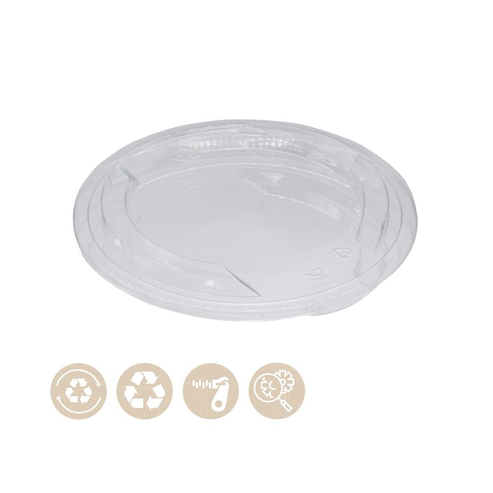 rPET-Deckel für BIO Menü- und Salatbecher für Kaltes 102-02-0046