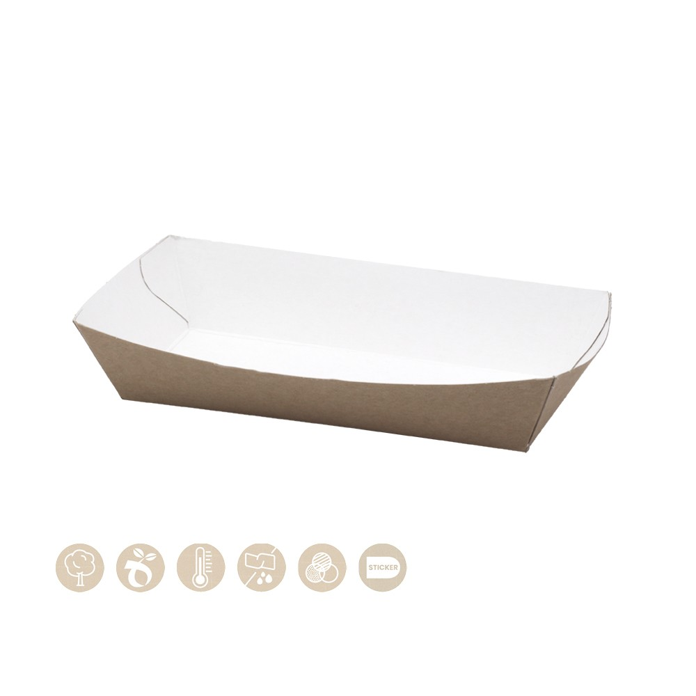 BIO Schale - Tray offen aus Papier 105-01-0053
