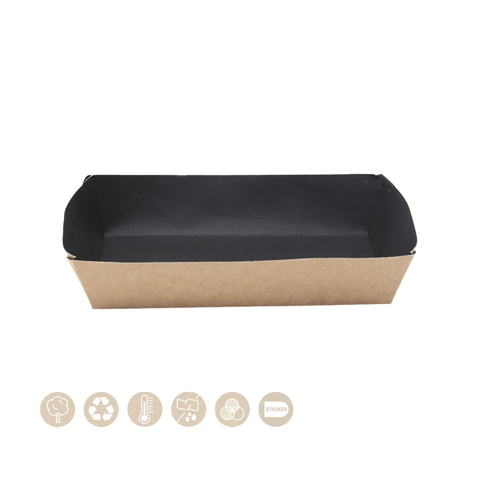 BIO Schale - Tray offen schwarze Innenseite 105-01-0188