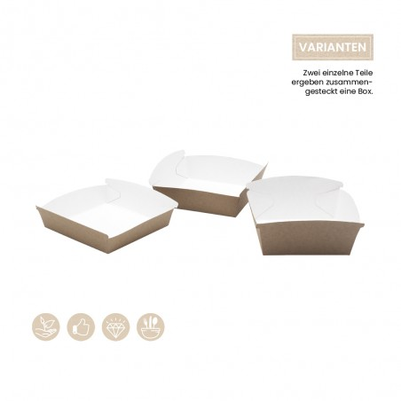 BIO Burgerbox - Foodtray offen 105-01-0163, 105-01-0164, 105-01-0165