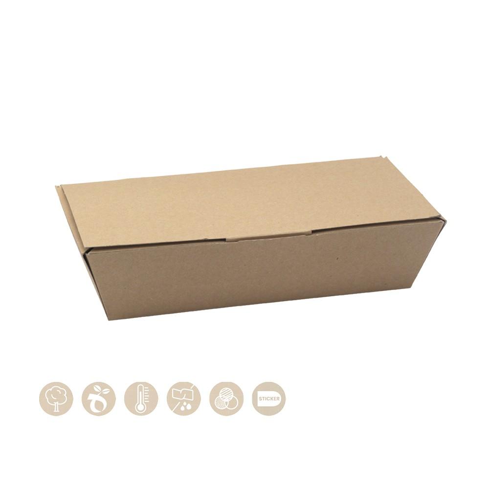 BIO Lunchbox mit Scharnierdeckel aus Papier 105-02-0018
