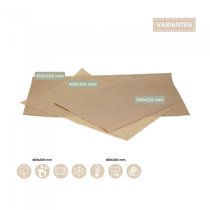 Papierzuschnitt - Fettpapier - Einpackpapier 107-07-0018, 107-07-0020, 105-07-0026