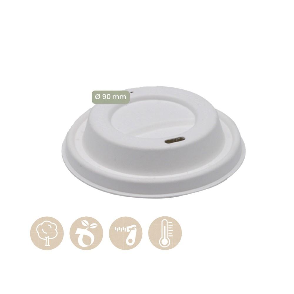 108-02-0036 Papiedeckel für CoffeeToGo Trinkbecher mit Loch Ø 90mm