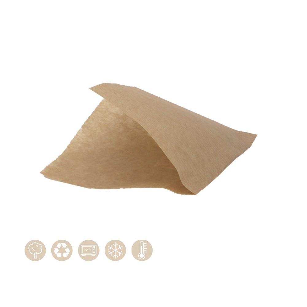 BIO Frittierbeutel und Snack Pochetta 2seitig geöffnet aus Papier 107-01-0088